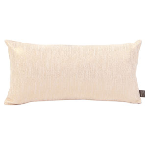Glam Snow Kidney Pillow with Down Insert