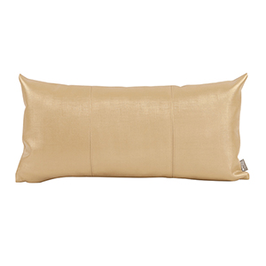Luxe Gold Kidney Pillow in Faux Leather