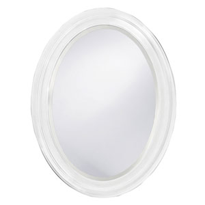 George White Oval Mirror