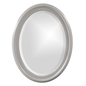George Glossy Nickel Oval Mirror