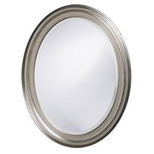 George Nickel Oval Mirror