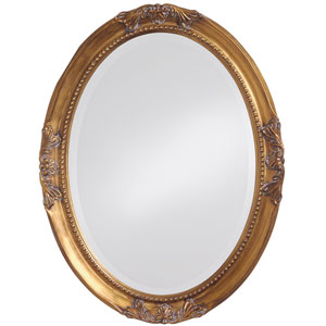 Queen Ann Antique Gold Oval Mirror