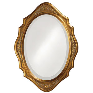 Trafalga Gold Oval Mirror
