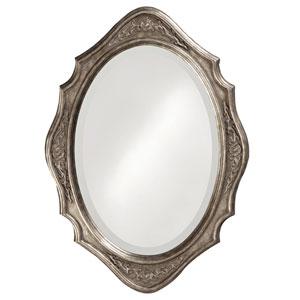 Trafalga Silver Leaf Oval Mirror