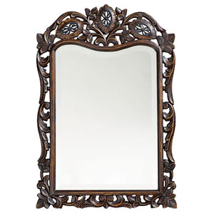 St. Augustine French Brown Rectangle Mirror