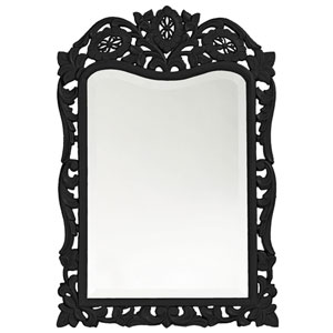 St. Augustine Black Rectangle Mirror