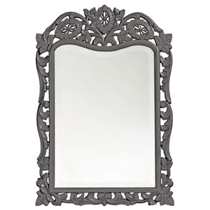 St. Augustine Charcoal Gray Rectangle Mirror