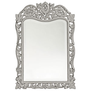 St. Agustine Glossy Nickel Rectangle Mirror
