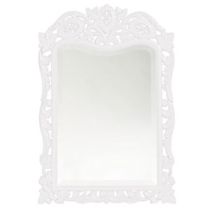 St. Augustine White Rectangle Mirror