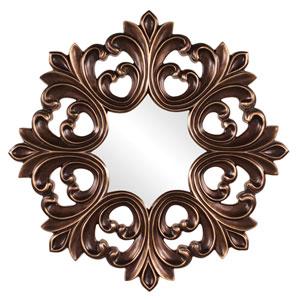 Annabelle Baroque Oil Rubbed Bronze Round Mirror