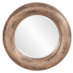 Raymus Warm Silver and Gold Round Mirror