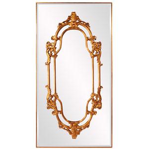 Akira Bright Gold Leaf Mirror