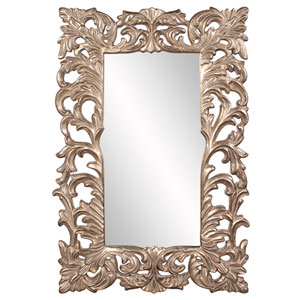 Warm Antique Silver Leaf Augustus Mirror