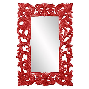 Augustus Glossy Red Mirror