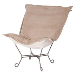 Bella Sand Puff Chair with Titanium Frame