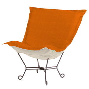 Sterling Canyon Puff Chair with Titanium Frame