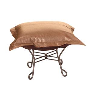 Avanti Bronze Puff Ottoman with Titanium Frame