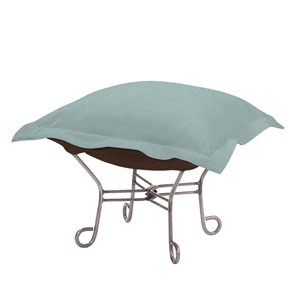 Sterling Breeze Puff Ottoman with Titanium Frame