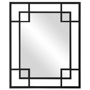 Lois Black 1-Inch Rectangle Mirror