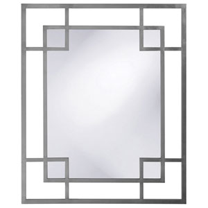 Lois Charcoal Gray Rectangle Mirror