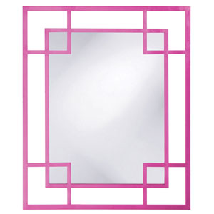Lois Hot Pink Rectangle Mirror