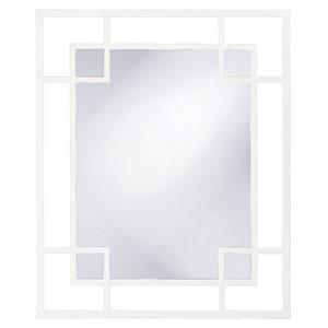 Lois White Rectangle Mirror