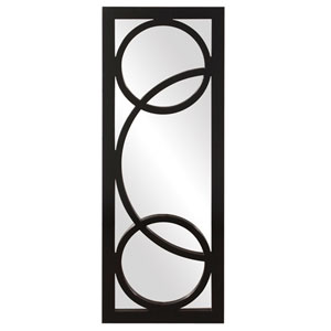 Dynasty Black 1-Inch Rectangle Mirror