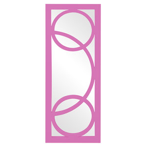 Dynasty Hot Pink Rectangle Mirror