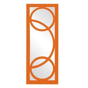 Dynasty Orange Rectangle Mirror