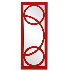 Dynasty Red Rectangle Mirror