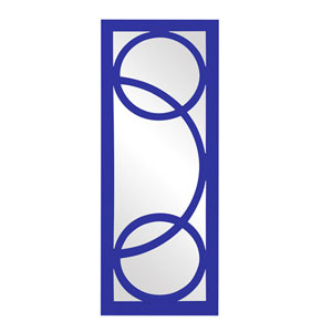 Dynasty Royal Blue Rectangle Mirror