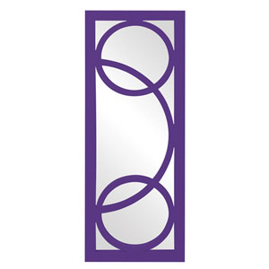 Dynasty Royal Purple Rectangle Mirror