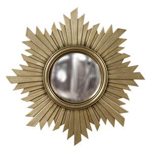 Euphoria Brushed Antique Nickel Round Mirror
