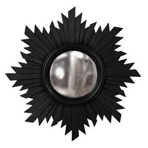 Euphoria Black 1-Inch Round Mirror