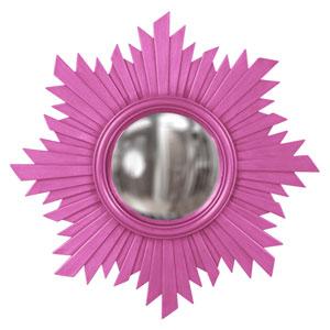 Euphoria Hot Pink Round Mirror