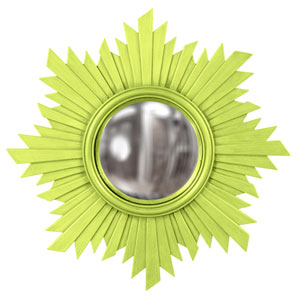 Euphoria Green Round Mirror