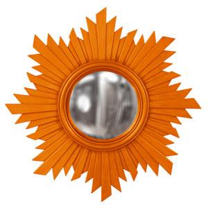Rosalie Orange Round Mirror