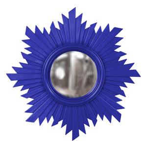 Euphoria Royal Blue Round Mirror