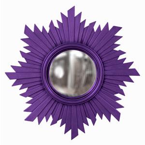 Euphoria Royal Purple Round Mirror