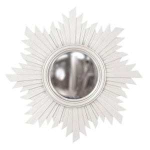 Euphoria White Round Mirror