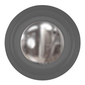 Soho Charcoal Gray Round Mirror