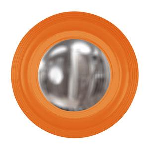 Triton Orange Round Mirror
