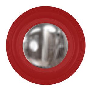Euphoria Red Round Mirror