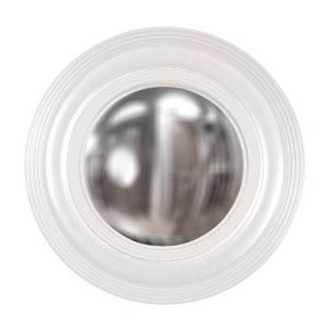 Soho White Round Mirror