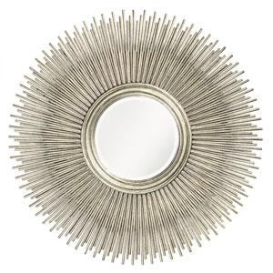 Singapore Silver Leaf Round Mirror