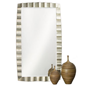 Bangkok Silver Leaf 48-Inch Rectangle Mirror