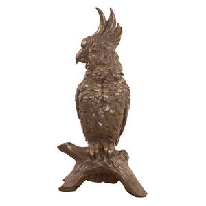 Antiqued Bronze Cockatoo Sculpture