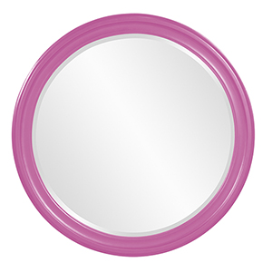 George Glossy Hot Pink Mirror