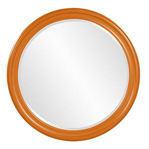 George Glossy Orange Mirror