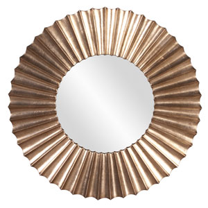 Olivia Silver Leaf with Bronze Accents Mirror